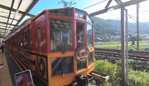 嵯峨野トロッコ列車で楽しむ秋の保津川。駅や座席も良い雰囲気でした!