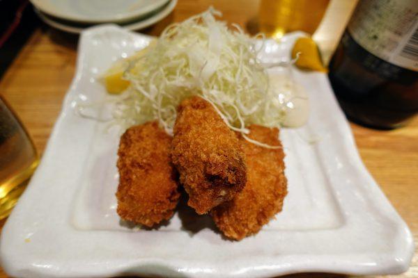 カキフライ(450円)がサックリ