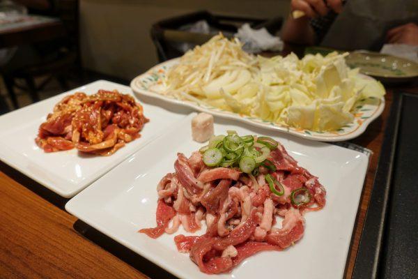 生ラムジンギスカン焼き野菜セット(1,760円)を2つ注文