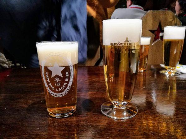 2杯のビールが試飲できます。しかも1つはここでしか飲めない一品。
